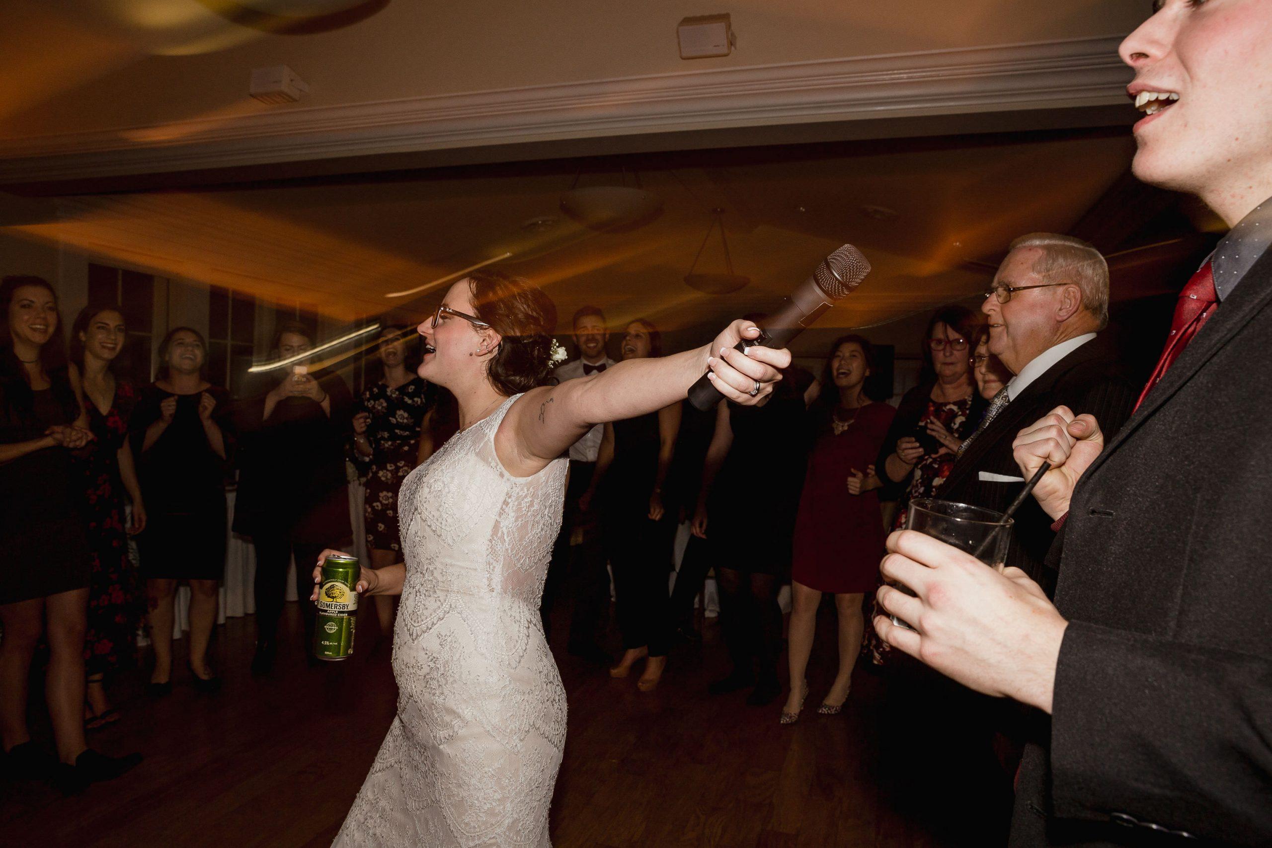 Wedding photo reception dance party light