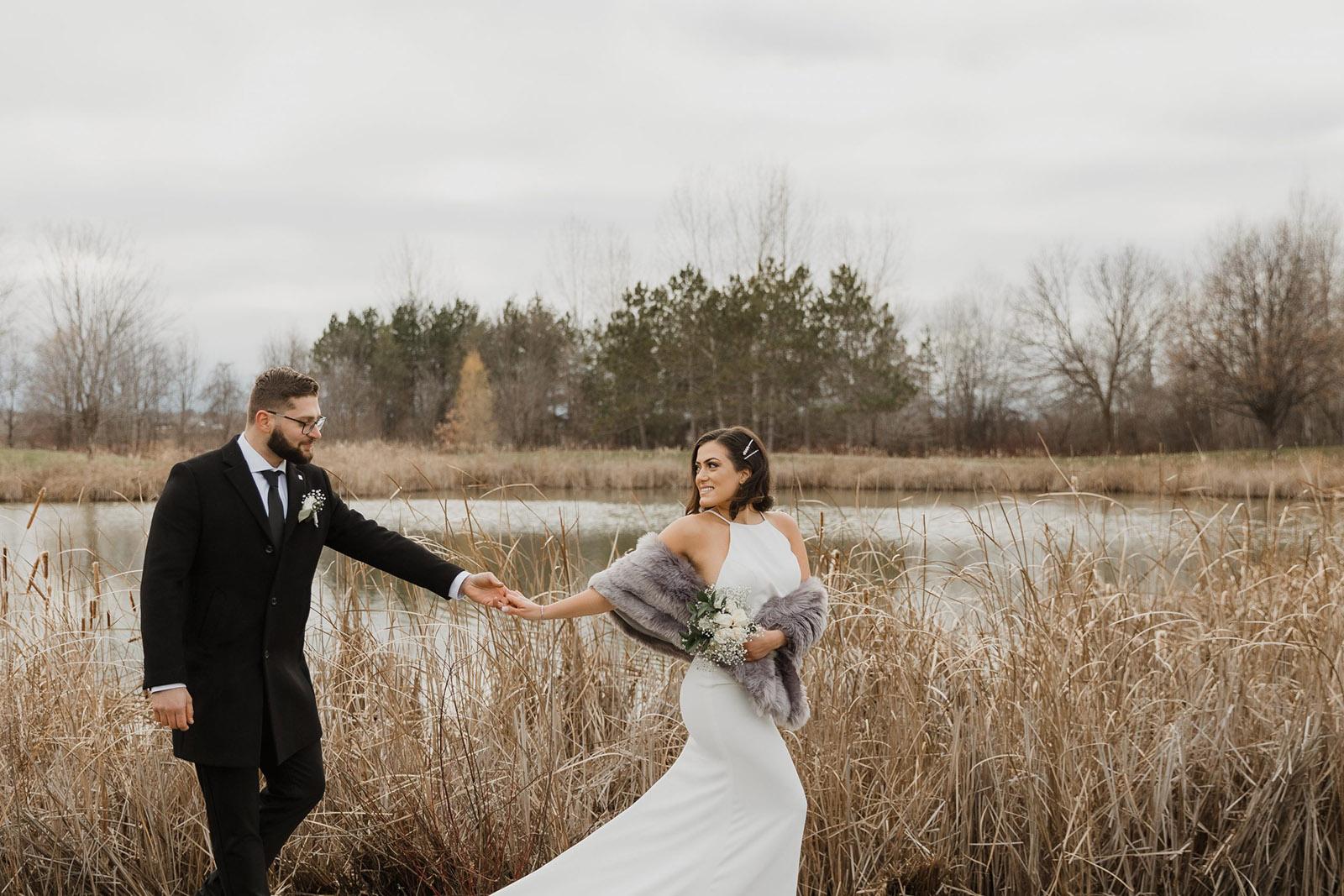Sonia-V-Photography-Candid-Documentary-Style-Wedding-Photographer-Ottawa-Ontario-Candid-Romantic-Earthy-Wedding-Couple-Fur-Stole-Boho-Ontario
