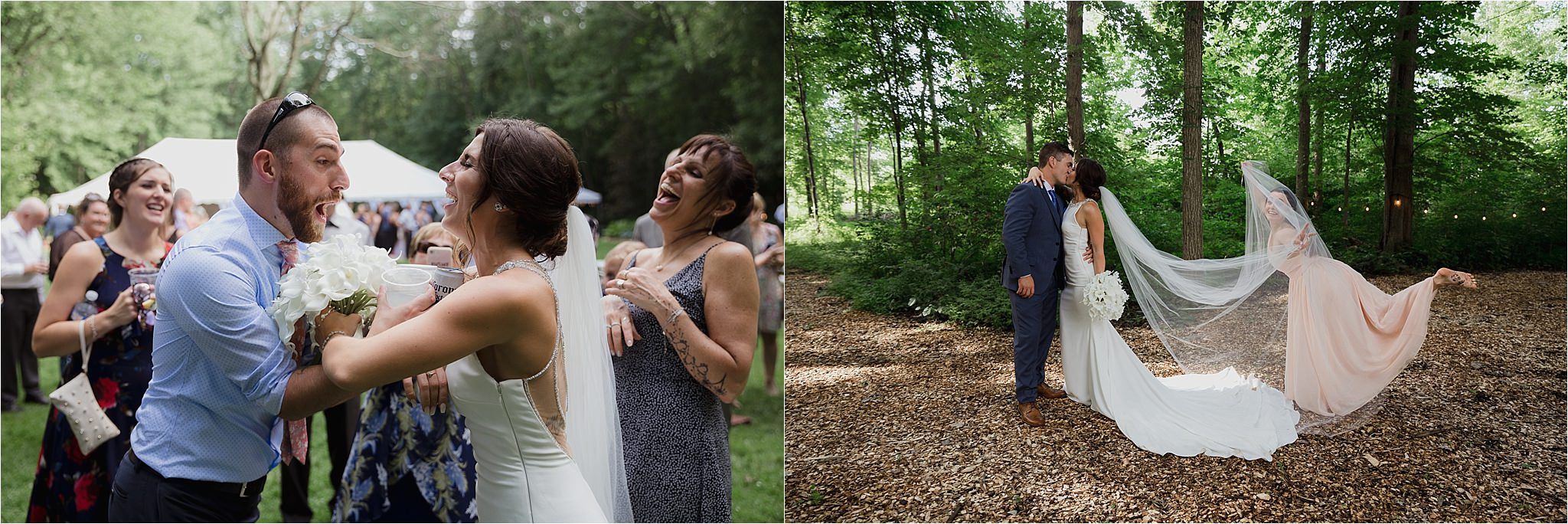 Sonia V Photography, The Clearing ceremony wedding venue, fun moments with the guests