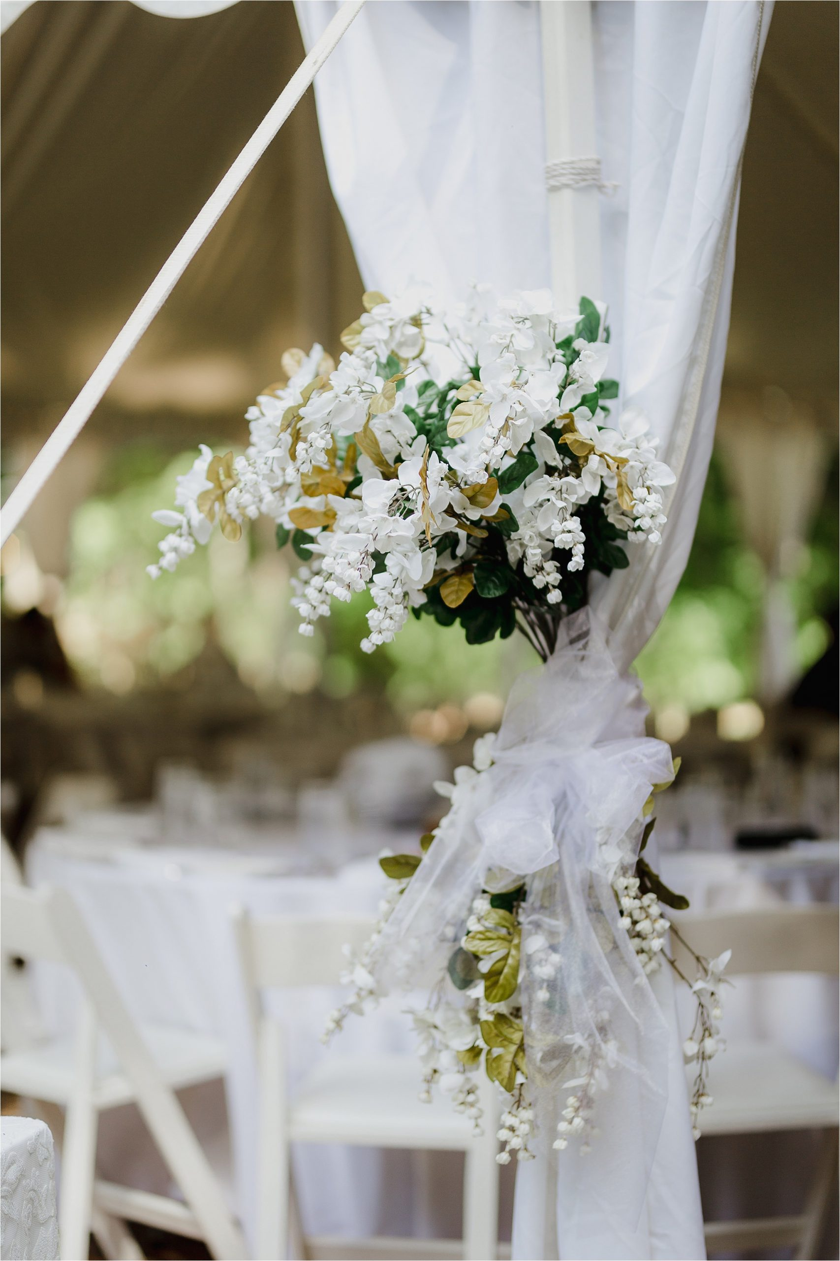 Sonia V Photography, The Clearing reception wedding venue, outdoor tent dinner decor