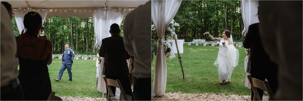 Sonia V Photography, The Clearing reception wedding venue, outdoor tent dinner bride and groom entrance