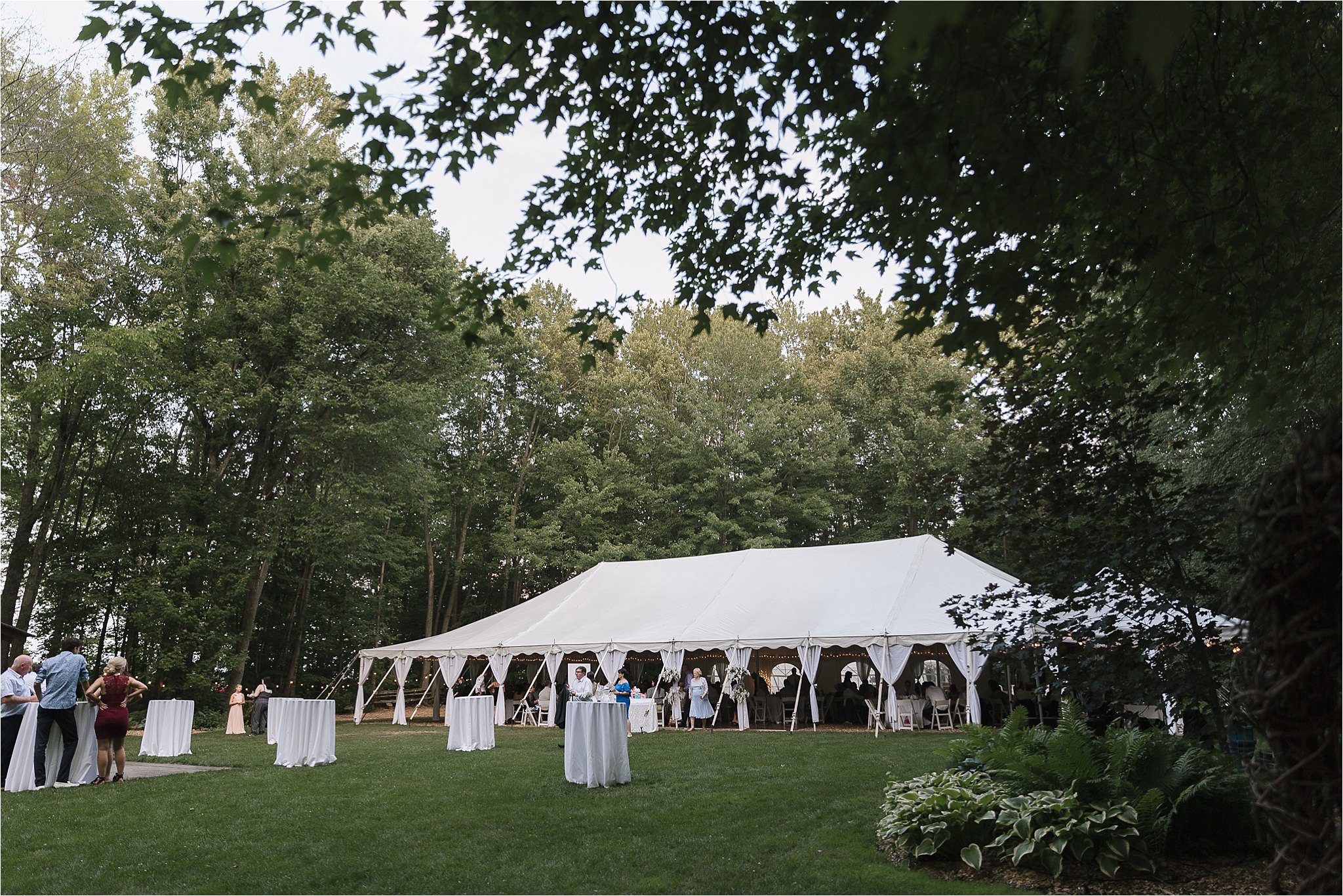 Sonia V Photography, The Clearing reception wedding venue, outdoor tent dinner