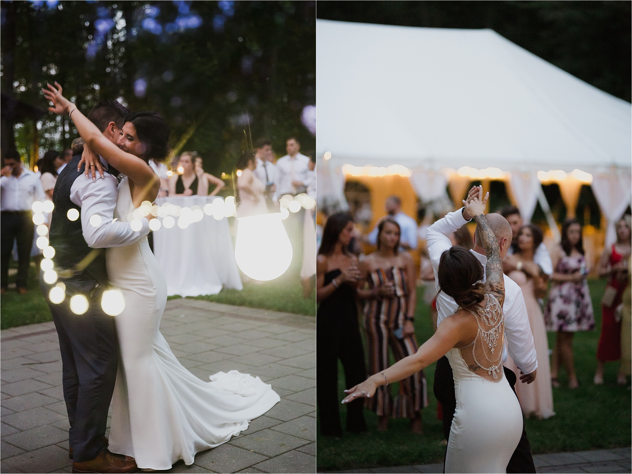 Sonia V Photography, The Clearing reception wedding venue, first dance with bride and groom and bride and father