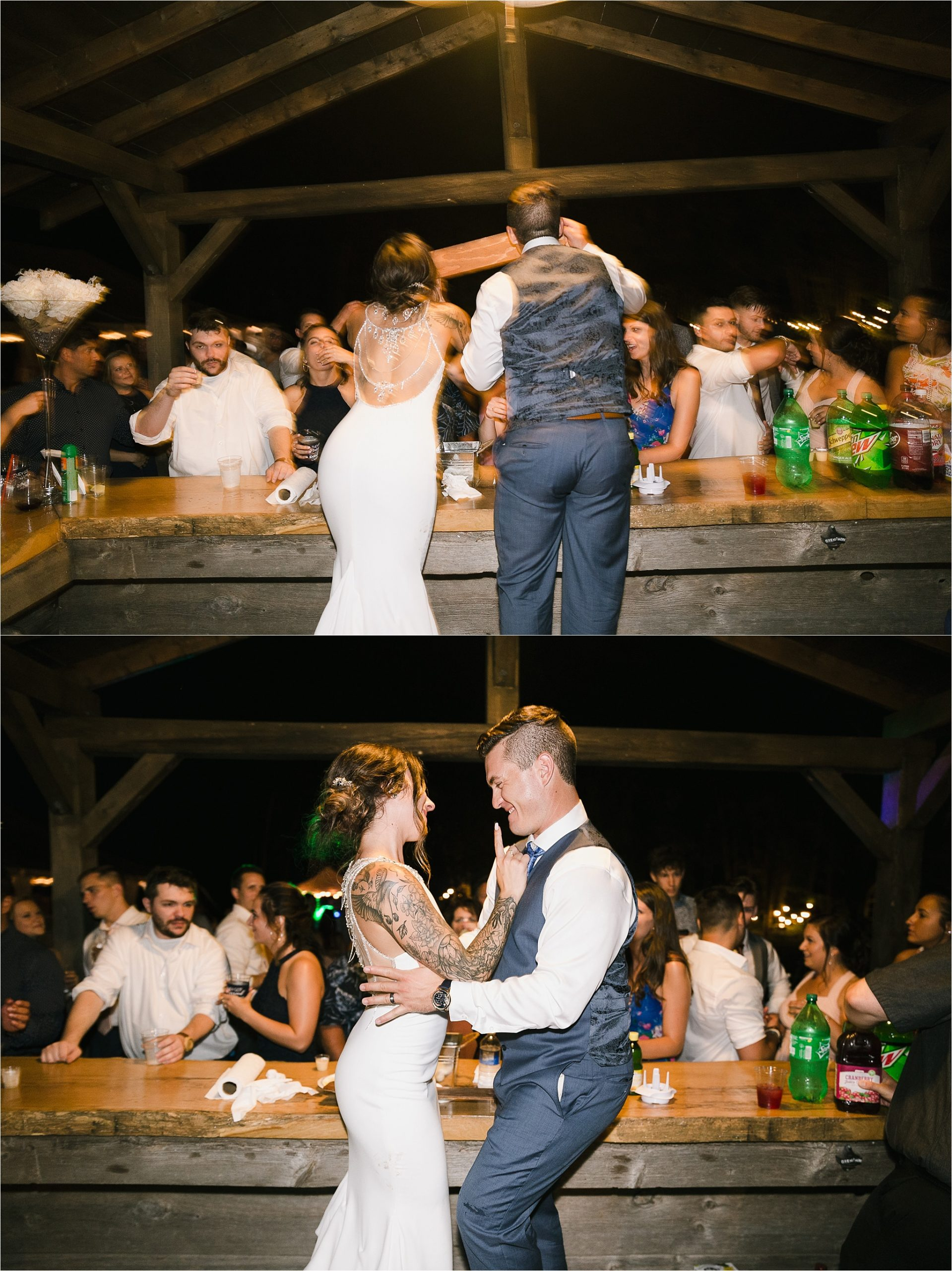 Sonia V Photography, The Clearing reception wedding venue, party dancing, shots