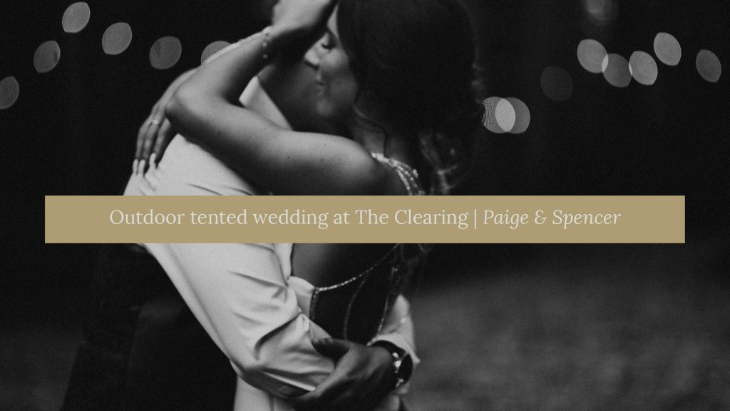 Outdoor tented wedding at the clearing wedding venue cover photo