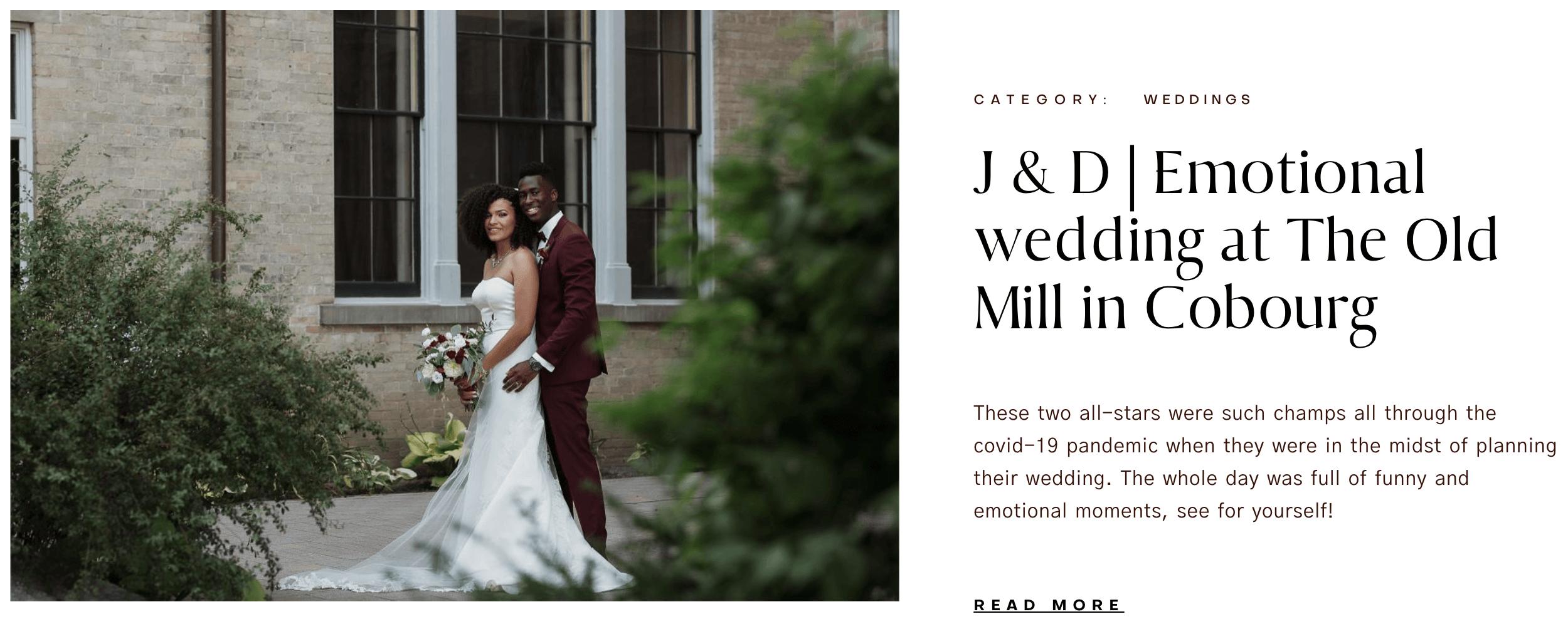 Emotional Wedding Old Mill Cobourg