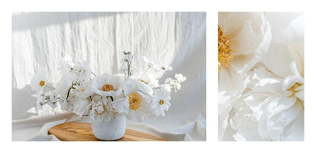 White bridal bouquet wedding centerpiece - Sonia V Photo -Documentary Style Candid Photographer - Ottawa Ontario Kemptville Destination Photographer - Authentic Colour Photography - Wedding Photographer - Branding Photographer - Small Business Headshots - Engagement Photos - Family Portraits - Lifestyle